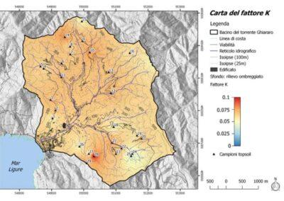 Analisi preliminare dell'erosione del suolo e del trasporto solido fluviale nel comune di Levanto